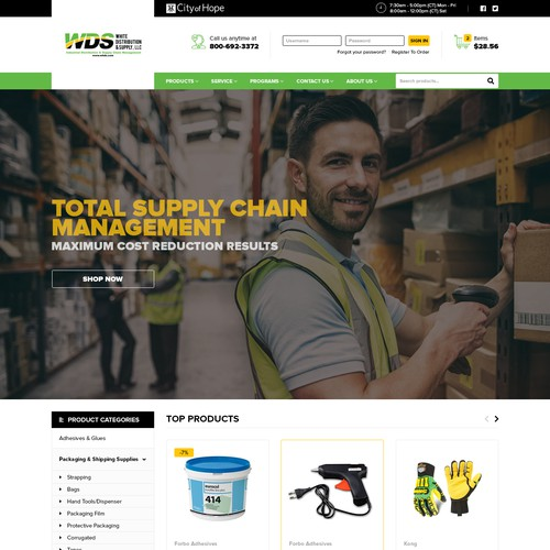 New E-Commerce site for a forward thinking distribution company