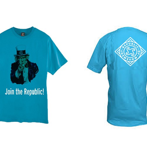T-shirt design for the Republic Of Movement