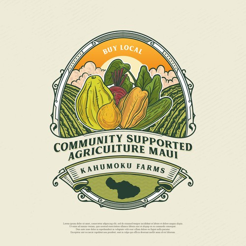 logo for fruit and vegetables in Hawaii