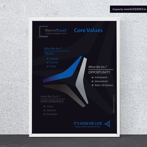 VersaTrust Core value poster