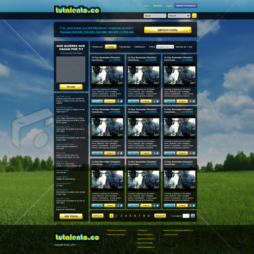 Create the next website design for tutalento.co