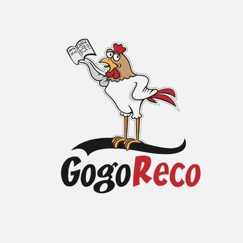 """Création d'un funky chicken pour """"GogoReco"""", jeune start upétudiante qui dépote"""