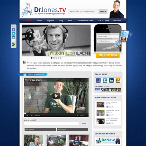 Help www.DrJones.TV with a new website design