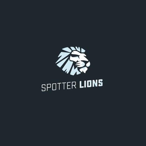 Modern and minimal lion logo