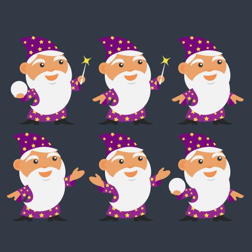 Flat Wizard Mascot for Hosting Company HostPresto!