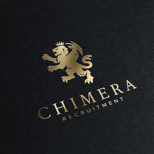 A modern look on a classic heraldic chimera logo.