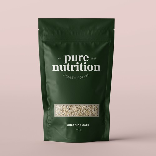 Pure Nutrition - packaging design