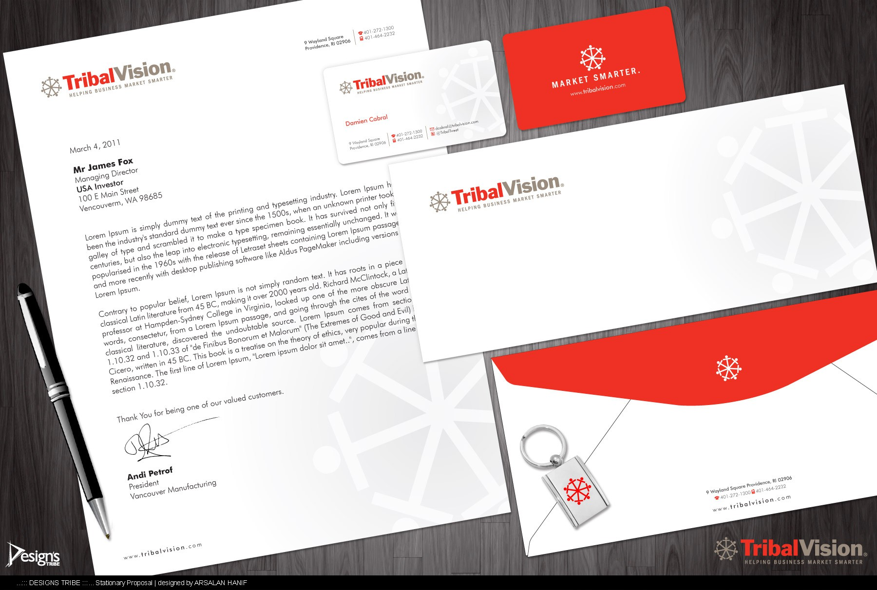 New Business Card and Stationery wanted for TribalVision