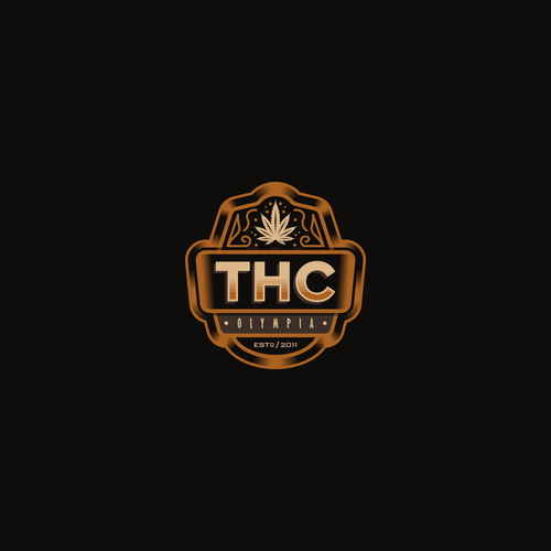 Marijuana Logo Emblem Design