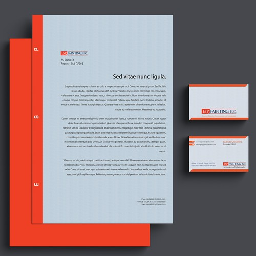 modern business card and stationary style
