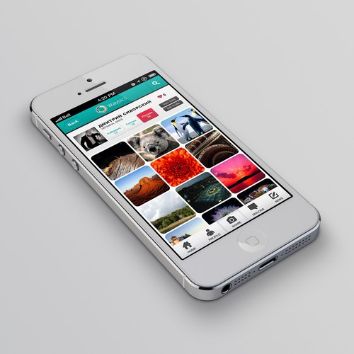 Photography mobile app design