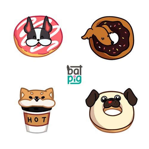 Puppies Donut design entry for Batpig