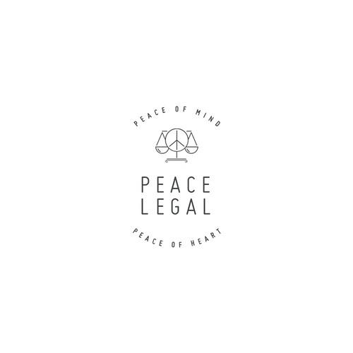 Cutting edge retro logo for law firm