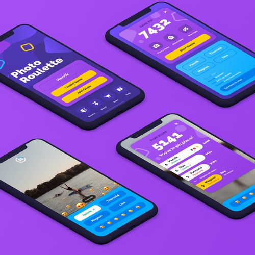 UI/UX Design for Photo-based Mobile Game