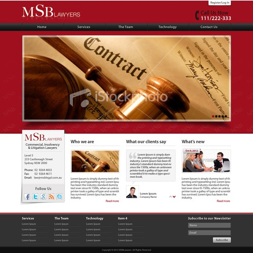 Help MSB Lawyers with a new website design