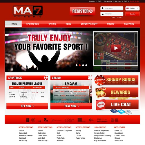 New website design wanted for MA7.com