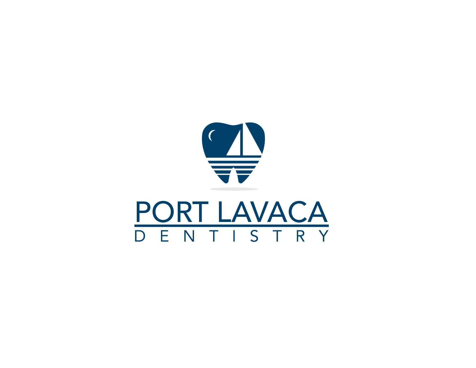 Create the next logo and business card for Port Lavaca Dentistry