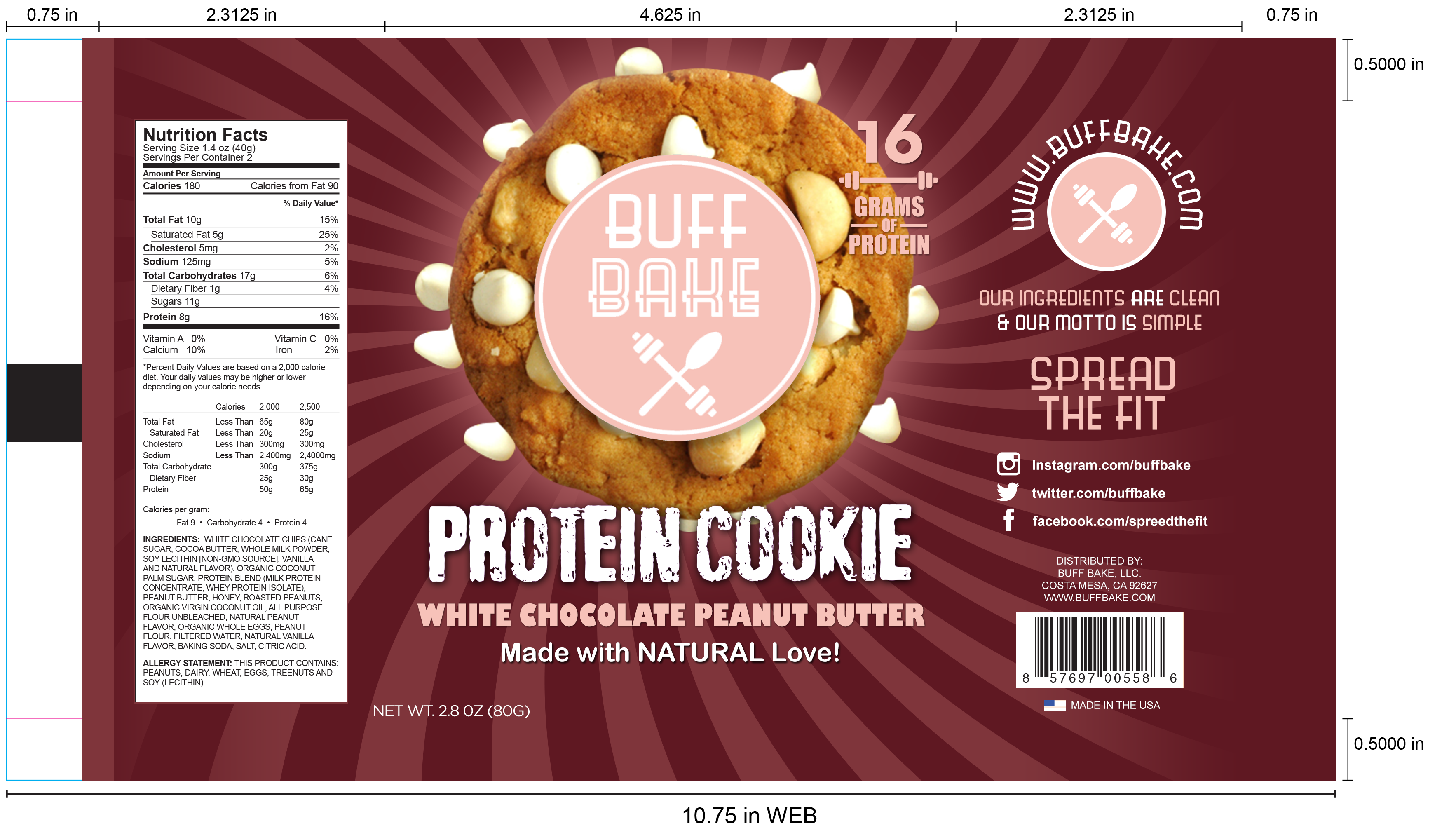 Redesign our Protein Cookie Packaging