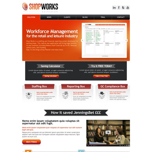 Website design for rapidly growing online staffing tool