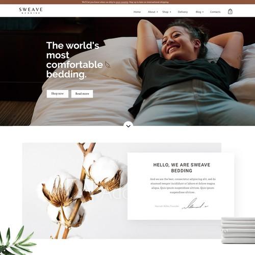 Bedsheets manufacturer landing page