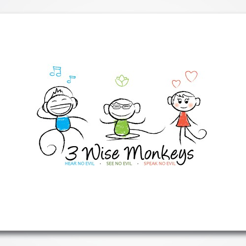 3 wise monkeys project