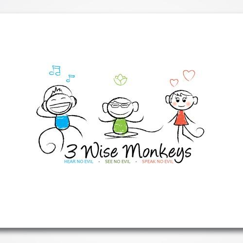 3 wise monkeys project