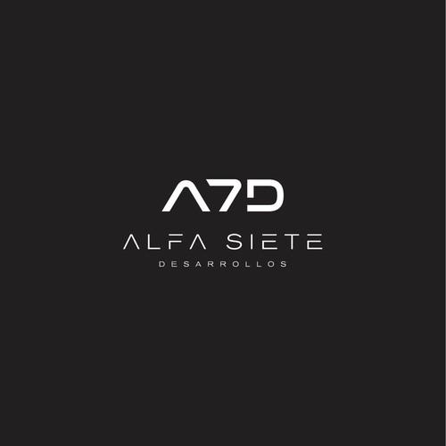 Logo Design for Alfa Siete Desarollos