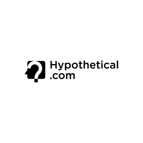Negative Space Logo of Human Mind
