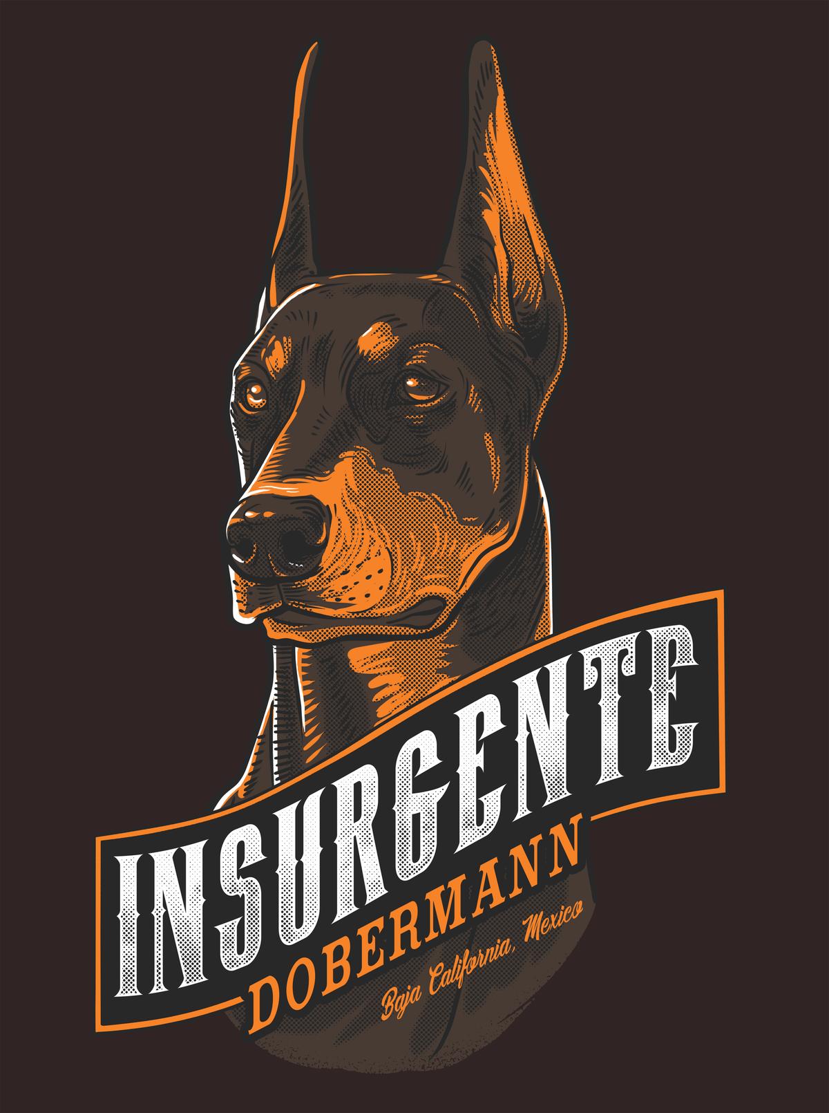T-shirt design for a dog training club