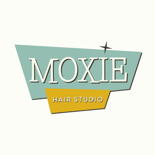 Retro logo for Moxie Hair Studio