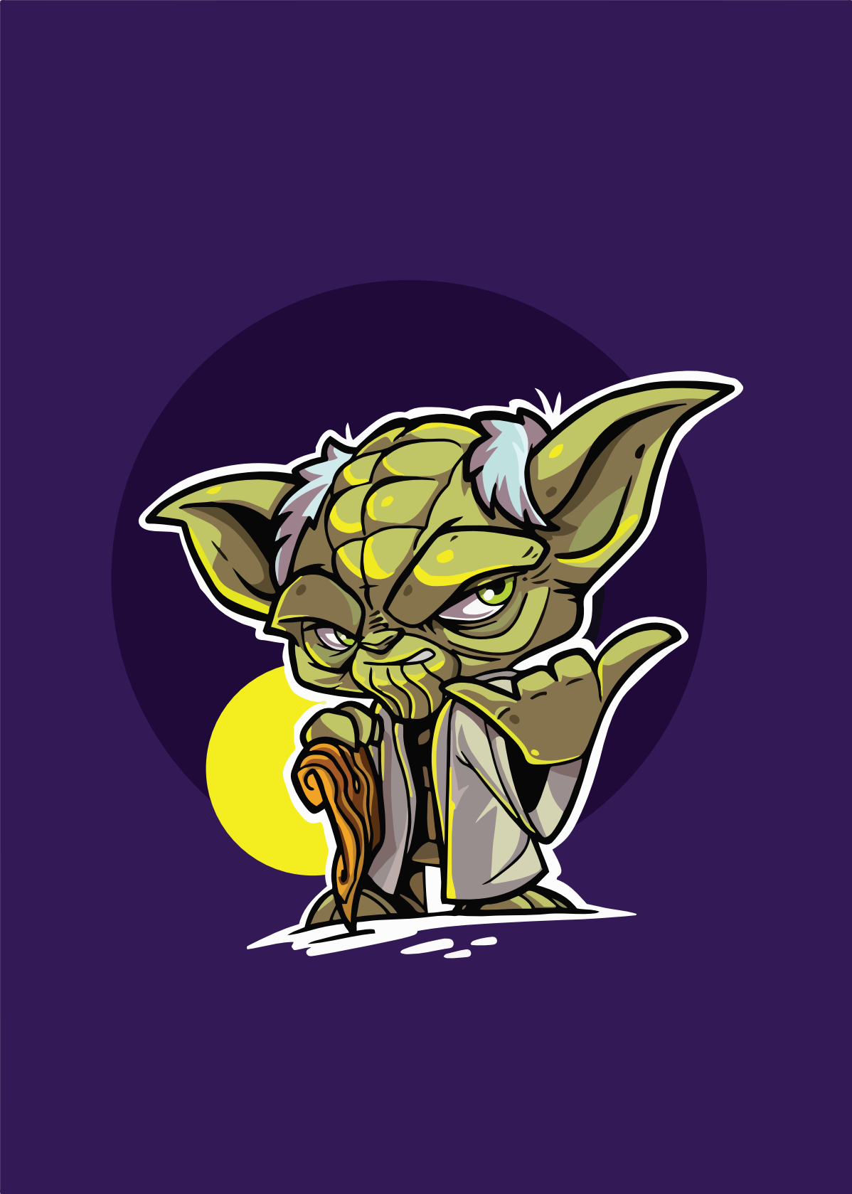 Star wars characters illustrations Yoda and Stormtrooper