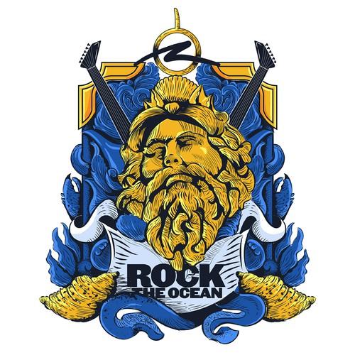 Neptune rock the ocean