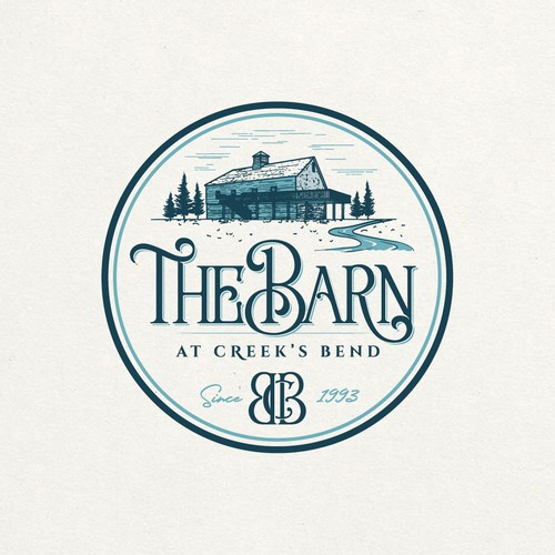 Sophisticated and Elegant Logo for The Barn at Creek's Bend