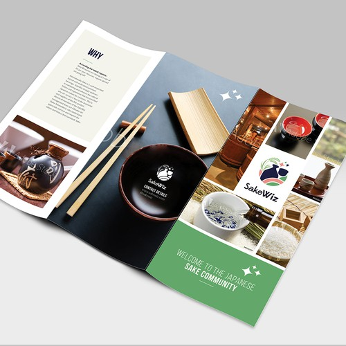 Sake Brochure Design