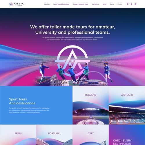 Atleta Sports Ventures Webdesign