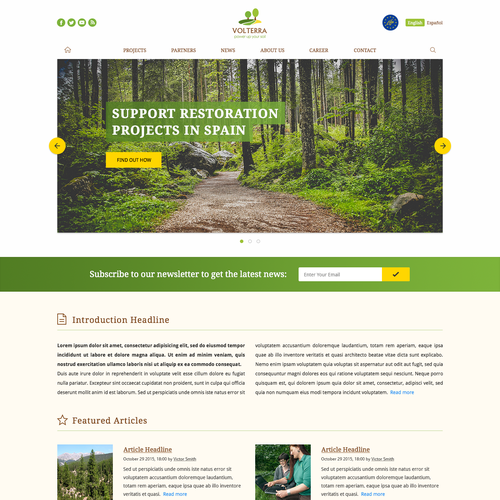Bootstrap template design for Volterra