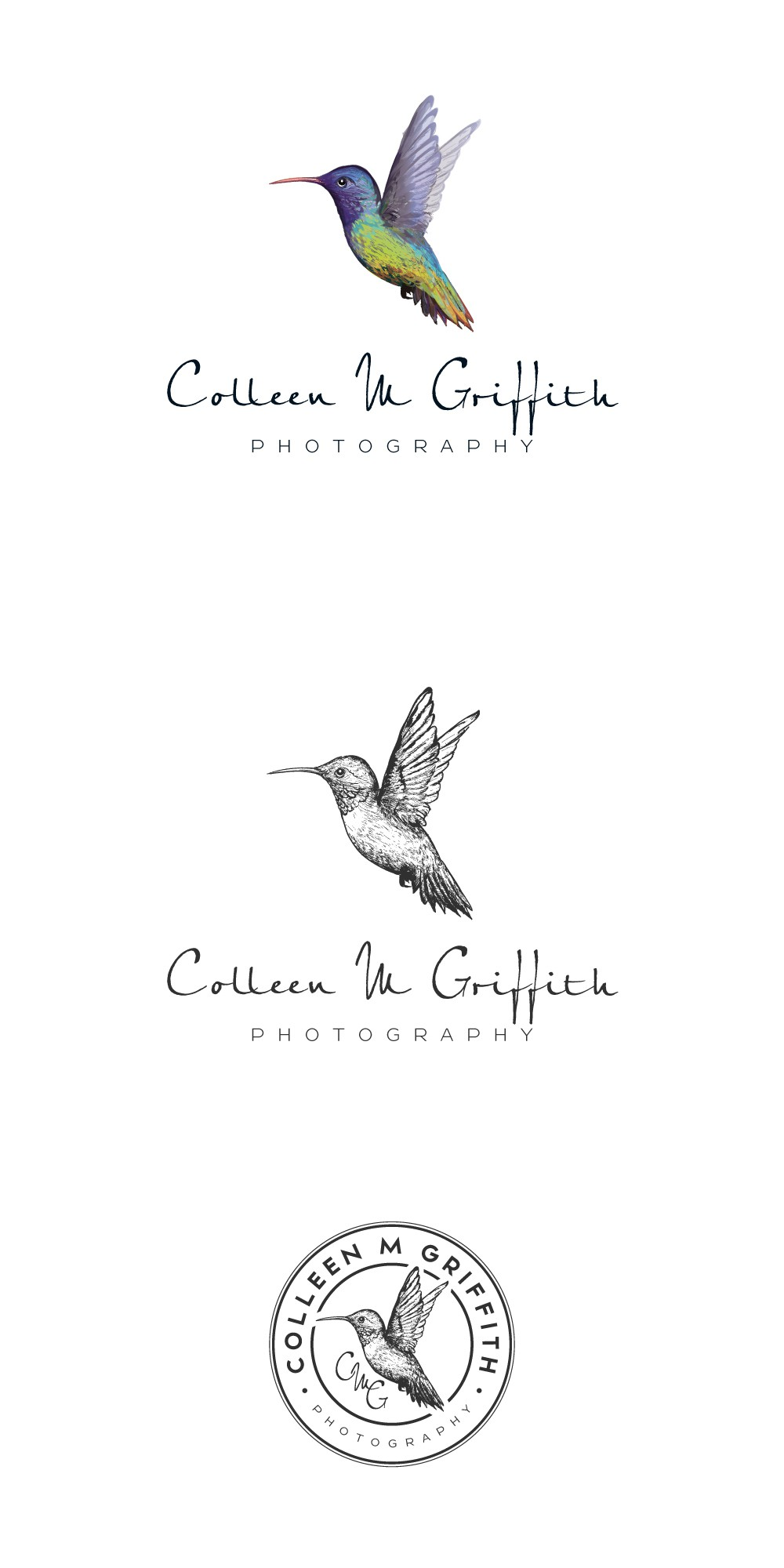 Business Card Design for Colleen M Griffith Photography and Productions
