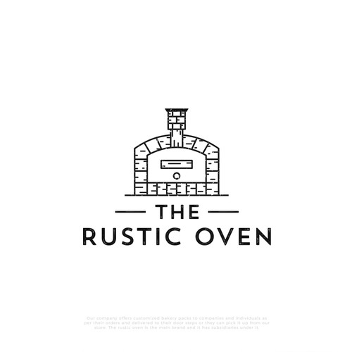 Rustic logo for Rustic Oven company