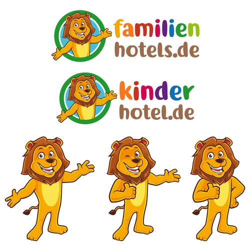 logo mascot for hotels portal