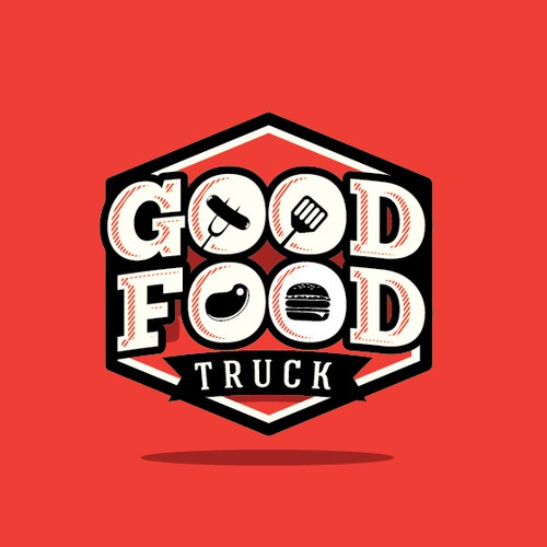 Create a logo and exterior design for FOOD TRUCK