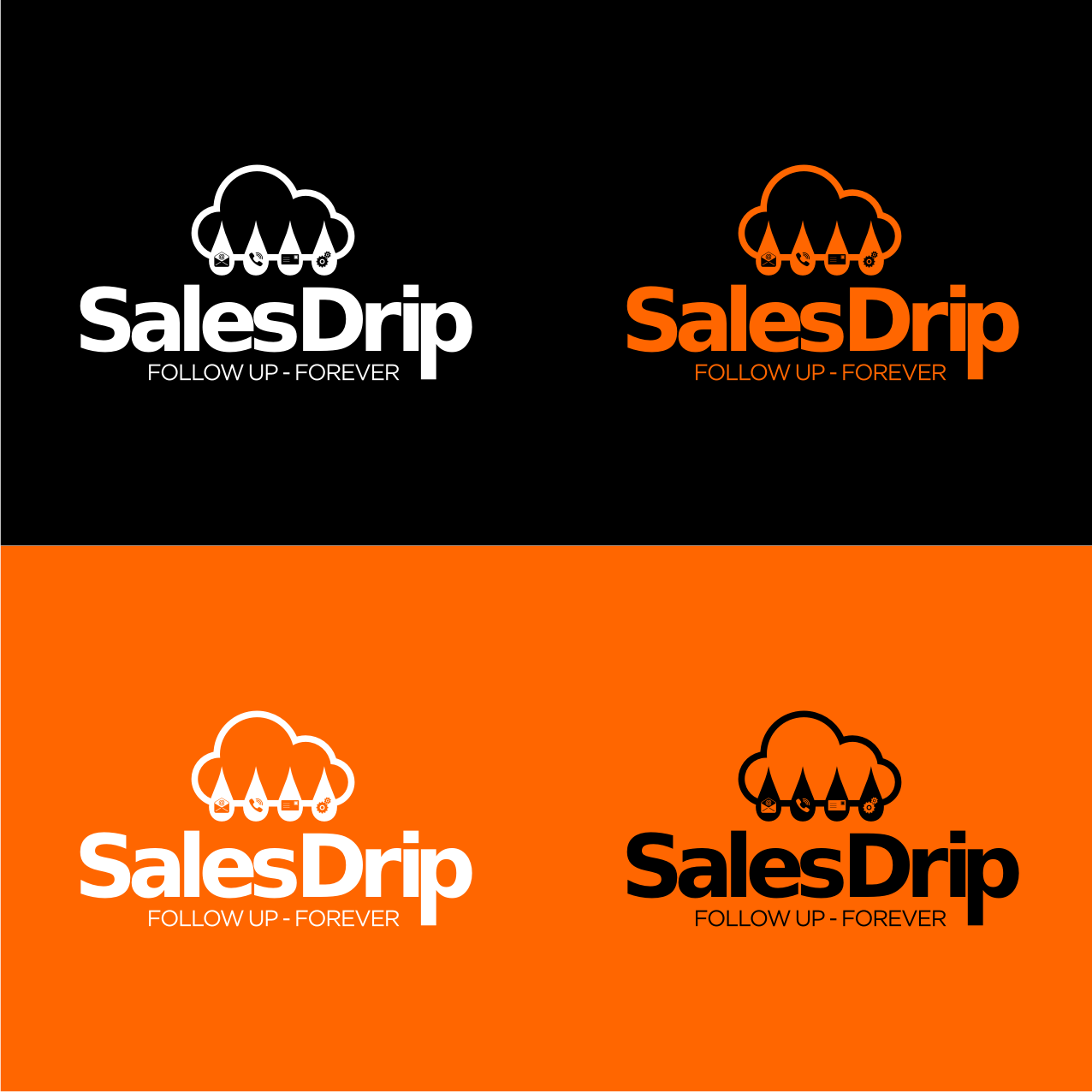 Create a captive logo illustration for Sales Drip