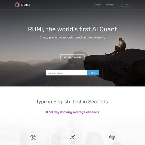 RUMI Landing Page
