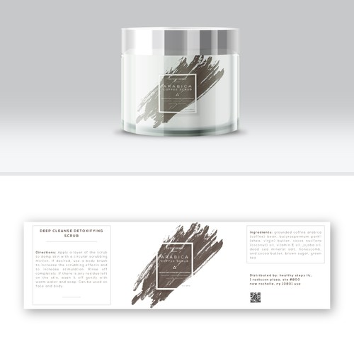 create a label for series of body scrubs