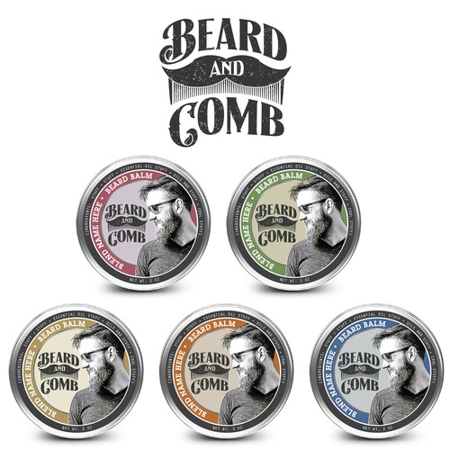 Create a unique logo for Beard & Comb