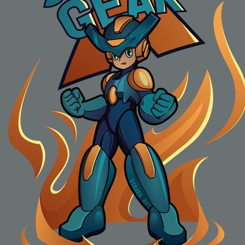Mega Man style