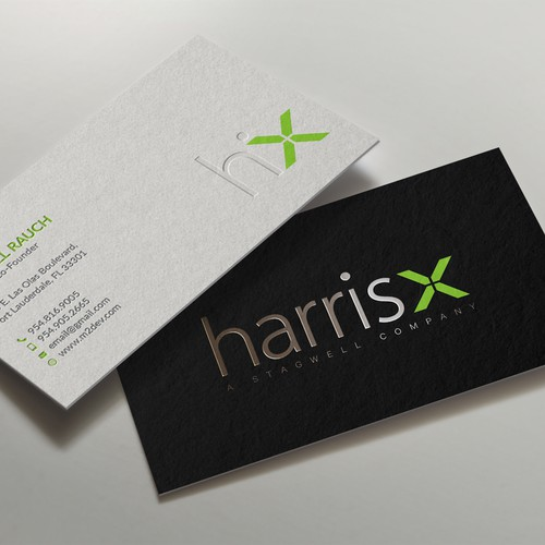 Business card with spot foil