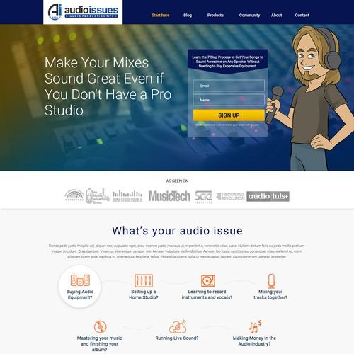 Mobile and tab responsive theme based wordpress design