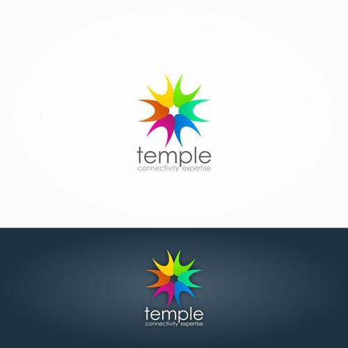 Temple logo design