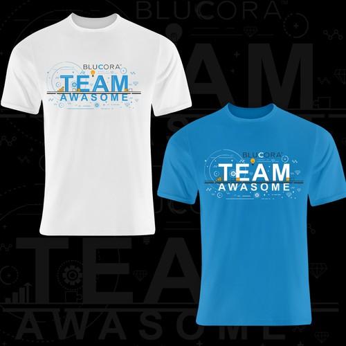 design tshirt blucora