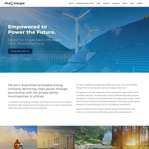 Website Design for rPlus Energies